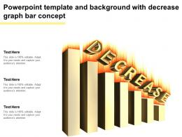 Powerpoint Template And Background With Decrease Graph Bar Concept