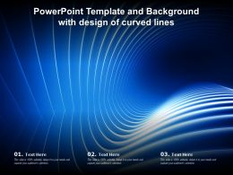 Powerpoint Template And Background With Design Of Curved Lines