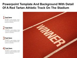 Powerpoint Template And Background With Detail Of A Red Tartan Athletic Track On The Stadium