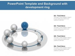 Powerpoint Template And Background With Development Ring