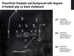 Powerpoint Template And Background With Diagram Of Football Play On Black Chalkboard