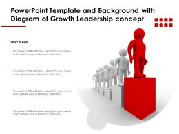 Powerpoint Template And Background With Diagram Of Growth Leadership Concept
