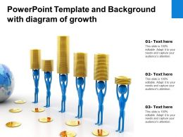 Powerpoint Template And Background With Diagram Of Growth