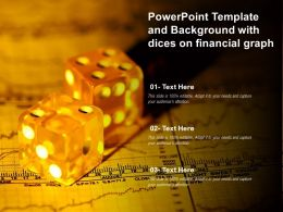 Powerpoint Template And Background With Dices On Financial Graph