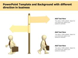Powerpoint Template And Background With Different Direction In Business