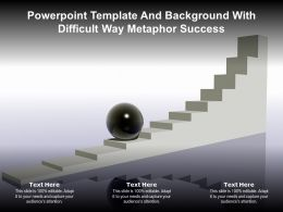 Powerpoint Template And Background With Difficult Way Metaphor Success