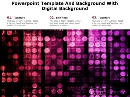 Powerpoint Template And Background With Digital Background