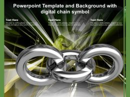 Powerpoint Template And Background With Digital Chain Symbol