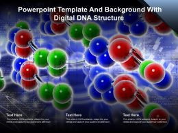 Powerpoint Template And Background With Digital DNA Structure