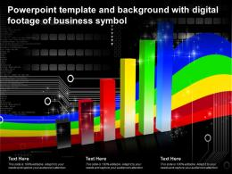 Powerpoint Template And Background With Digital Footage Of Business Symbol