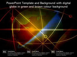 Powerpoint Template And Background With Digital Globe In Green And Brown Colour Background