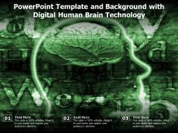 Powerpoint Template And Background With Digital Human Brain Technology