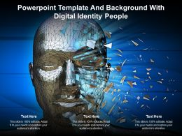 Powerpoint Template And Background With Digital Identity People