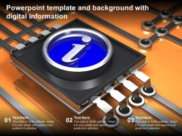 Powerpoint Template And Background With Digital Information
