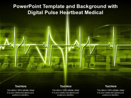Powerpoint Template And Background With Digital Pulse Heartbeat Medical