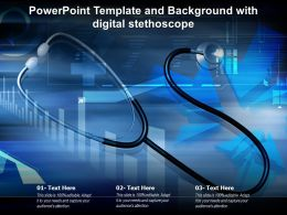 Powerpoint Template And Background With Digital Stethoscope Ppt Powerpoint