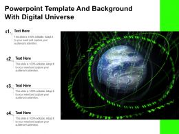 Powerpoint Template And Background With Digital Universe