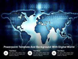 Powerpoint Template And Background With Digital World