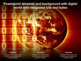 Powerpoint Template And Background With Digital World With Integrated Bits And Bytes