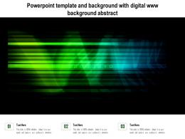 Powerpoint Template And Background With Digital Www Background Abstract