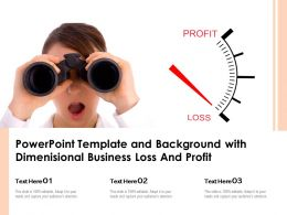 Powerpoint Template And Background With Dimenisional Business Loss And Profit