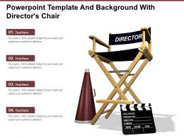 Powerpoint Template And Background With Directors Chair