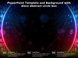 Powerpoint Template And Background With Disco Abstract Circle Box