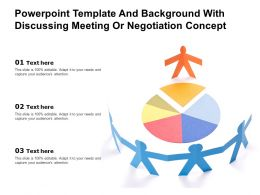 Powerpoint Template And Background With Discussing Meeting Or Negotiation Concept