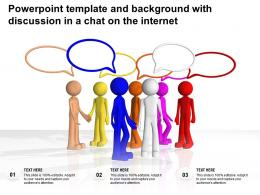 Powerpoint Template And Background With Discussion In A Chat On The Internet