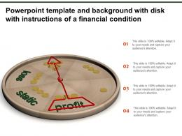 Powerpoint Template And Background With Disk With Instructions Of A Financial Condition
