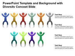 Powerpoint Template And Background With Diversity Concept Slide