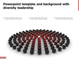 Powerpoint Template And Background With Diversity Leadership