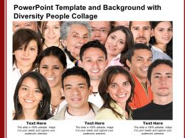 Powerpoint Template And Background With Diversity People Collage
