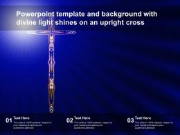 Powerpoint Template And Background With Divine Light Shines On An Upright Cross