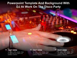 Powerpoint Template And Background With DJ At Work On The Disco Party