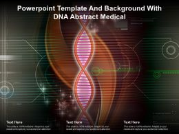 Powerpoint Template And Background With DNA Abstract Medical