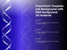 Powerpoint Template And Background With DNA Background