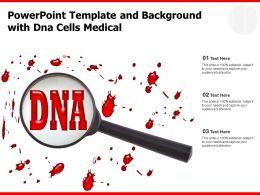 Powerpoint Template And Background With DNA Cells Medical