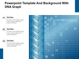 Powerpoint Template And Background With DNA Graph