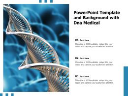 Powerpoint Template And Background With DNA Medical