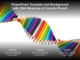 Powerpoint Template And Background With DNA Molecule Of Colorful Pencil