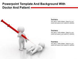 Powerpoint Template And Background With Doctor And Patient