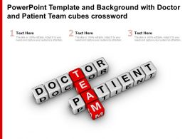 Powerpoint Template And Background With Doctor And Patient Team Cubes Crossword