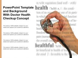 Powerpoint Template And Background With Doctor Health Checkup Concept
