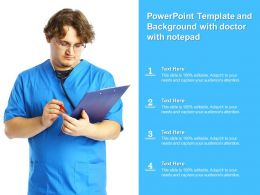 Powerpoint Template And Background With Doctor With Notepad