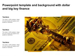 Powerpoint Template And Background With Dollar And Big Key Finance