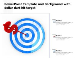 Powerpoint Template And Background With Dollar Dart Hit Target