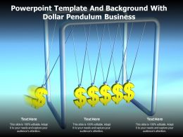 Powerpoint Template And Background With Dollar Pendulum Business