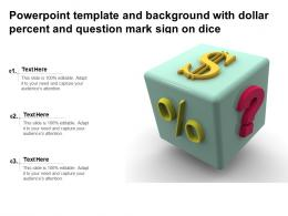 Powerpoint Template And Background With Dollar Percent And Question Mark Sign On Dice