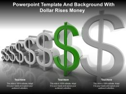 Powerpoint Template And Background With Dollar Rises Money